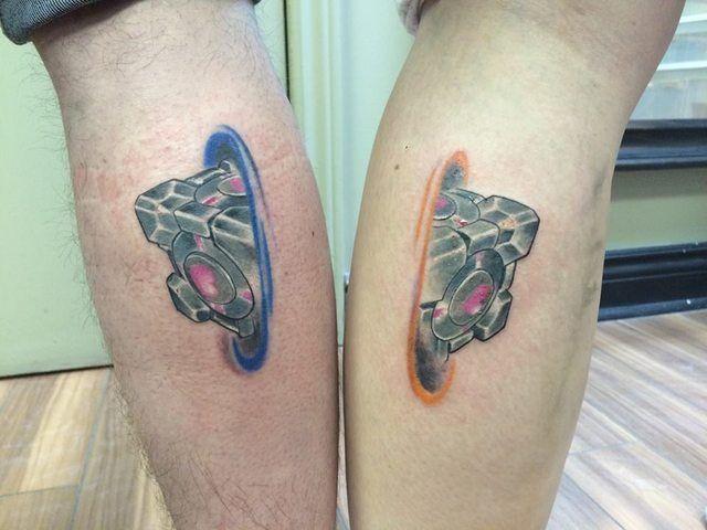 Matching Portal Tattoos Tattoos Geek Tattoo Gaming Tattoo