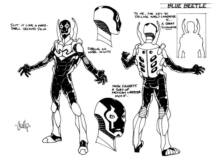 Blue Beetle Model Sheet by Cully Hamner ✤ || CHARACTER DESIGN ...