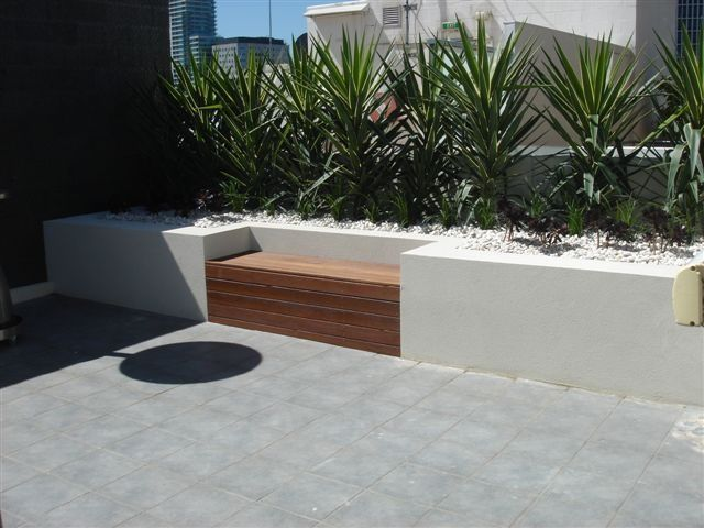 Image Result For Concrete Wall Wood Seat Top Planters Around Pool Outdoor Furniture Sets Outdoor Decor