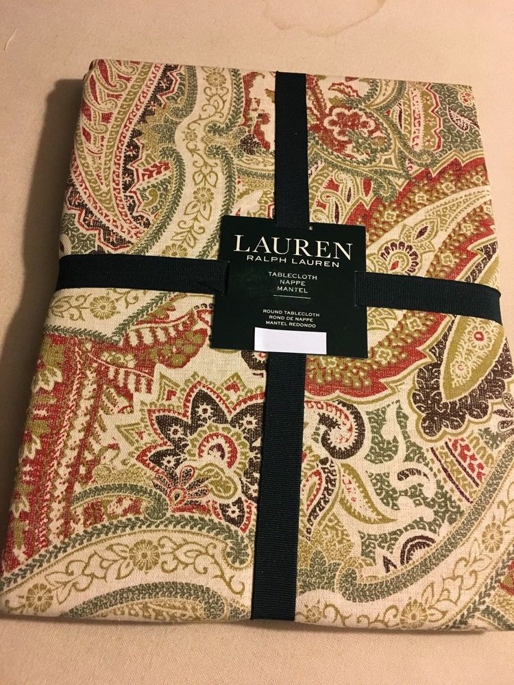 Ralph Lauren Laveen Paisley/Brick Tablecloth Various Sizes U0026 Shapes New