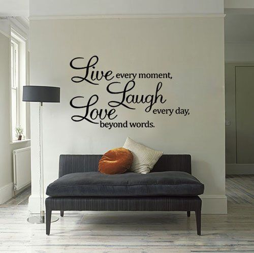 Live Laugh Love Wall Quote Vinyl Sticker Wall Decor Art Living Room Decor Quotes Living Room Quotes Wall Stickers Bedroom