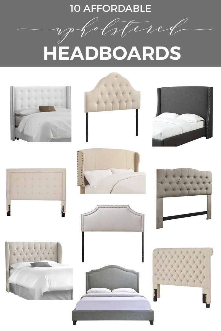 Where to Find 10 Affordable Stylish Upholstered Headboards | Somier ...
