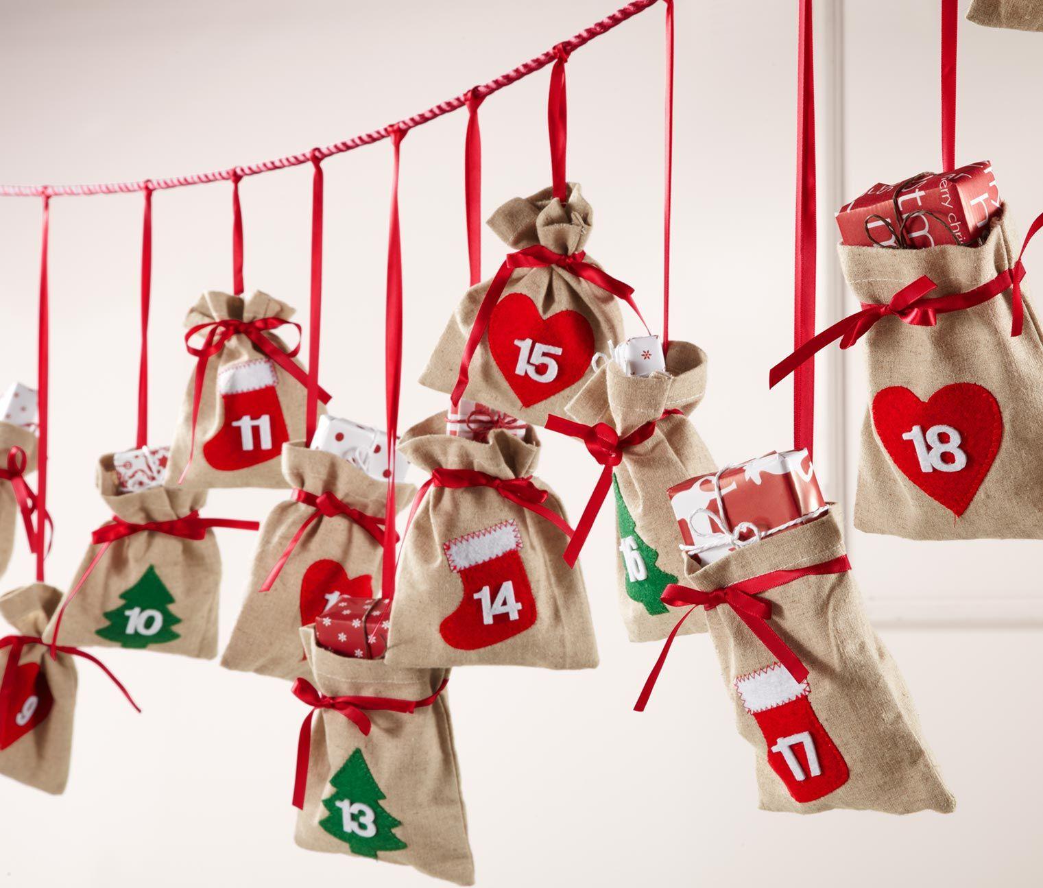 Mit jedem beutel ein bisschen n her an weihnachten adventskalender f r 14 95 bei tchibo - Adventskalender pinterest ...