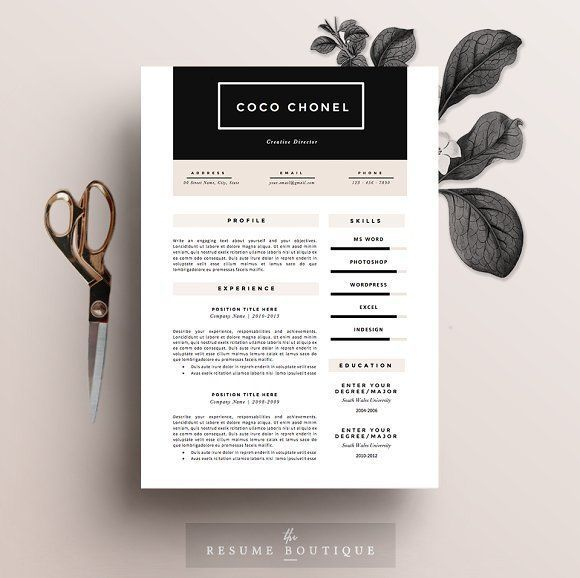 Resume Template 5 pages High-End Corporate business, Layout - resume 5 pages