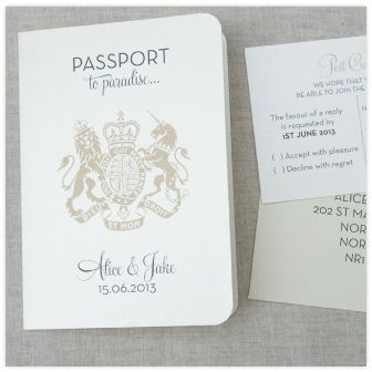 Passport wedding invitations handmade wedding for Passport wedding program template