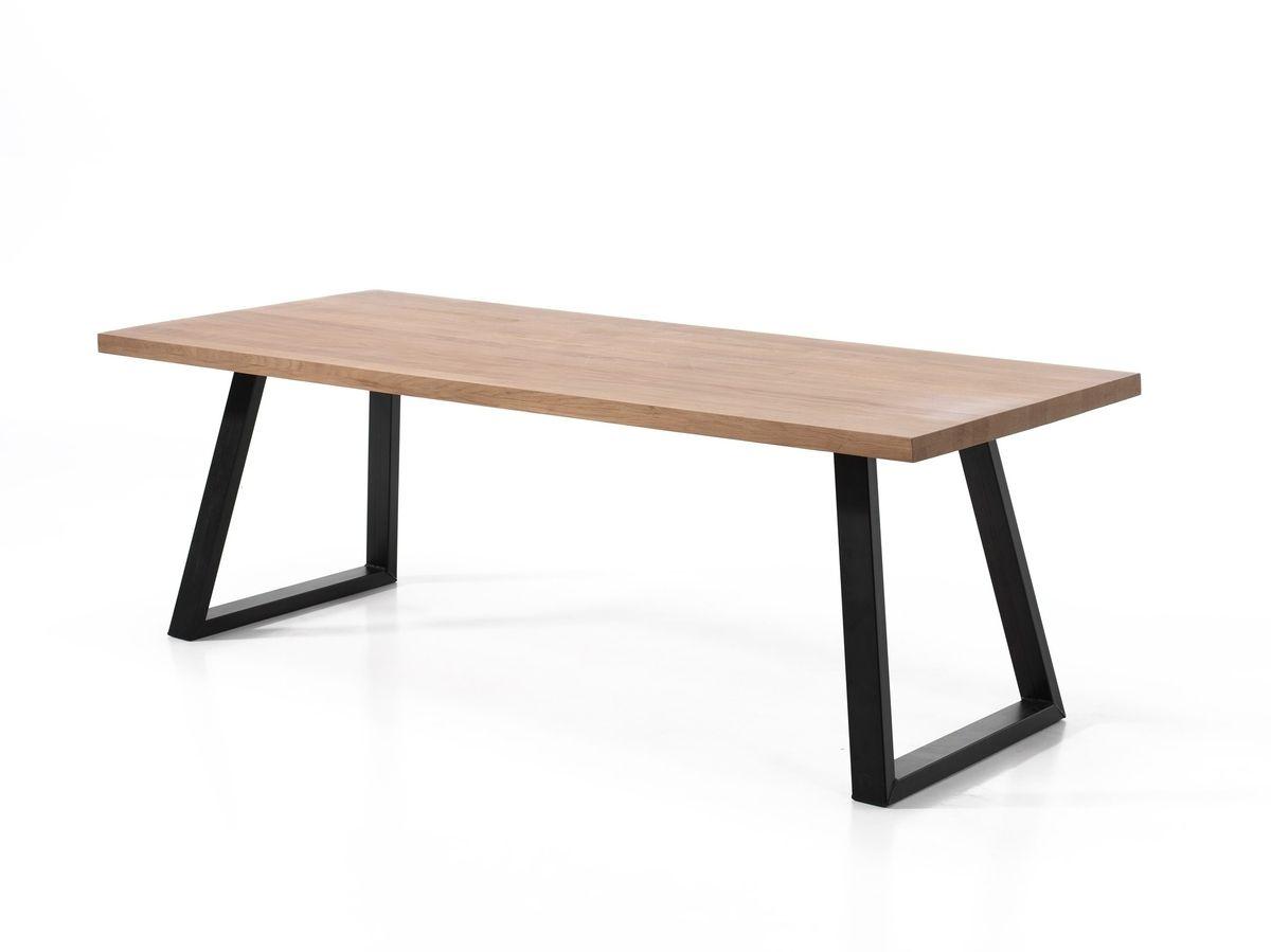 Moderne Houten Eettafel.Houten Tafel Met Moderne Poot Gero Wonen Industrieel Wonen
