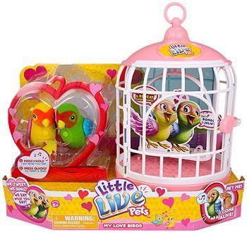 Little Live Pets Bird Cage Love Birds Double Pack Pet Bird Cage Little Live Pets Christmas Toys