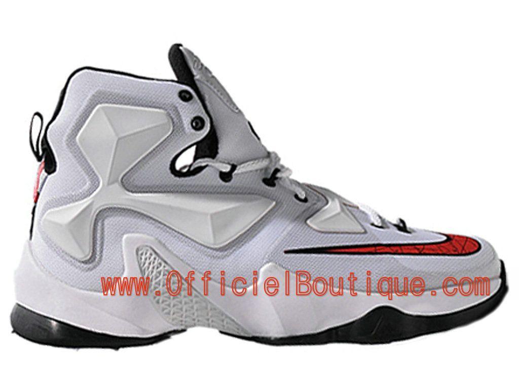 promo code 066cd 794b4 Chaussures Nike Basket Pas Cher Pour Homme Nike LeBron 13 XIII Blanc Noir