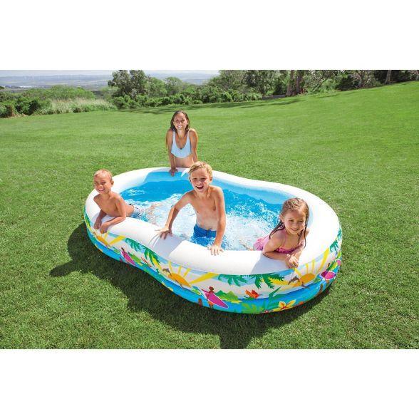 Intex 8 5ft X 5 25ft X 18in Swim Center Paradise Seaside Inflatable Kiddie Pool Target Kiddie Pool Children Swimming Pool Swimming Pool House
