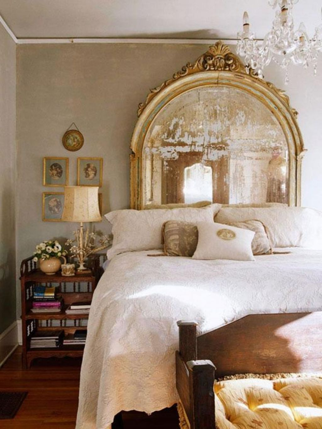 Creative Headboard With Mirror Idea For Special And Classy Bedroom ...