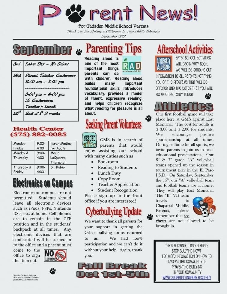 photograph about Printable Newsletter Templates Free referred to as Template For College Publication Basic Templates Totally free