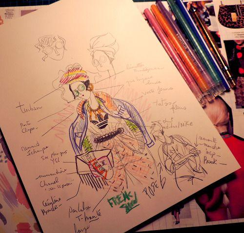 Jeremy Combot Illustration - sketch process