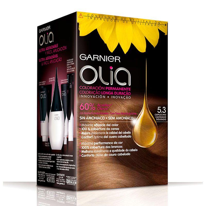 Tinte Olia Garnier Tono 5 3 Capuccino En 2021 Tintes Sin Amoniaco Tinte Rubio Oscuro