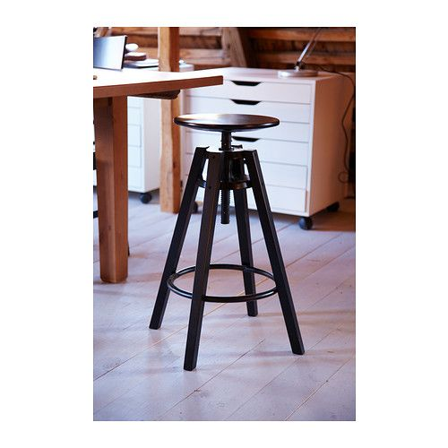 dalfred tabouret de bar noir 63 74 cm tabouret de bar ikea bar ikea et tabourets de bar. Black Bedroom Furniture Sets. Home Design Ideas
