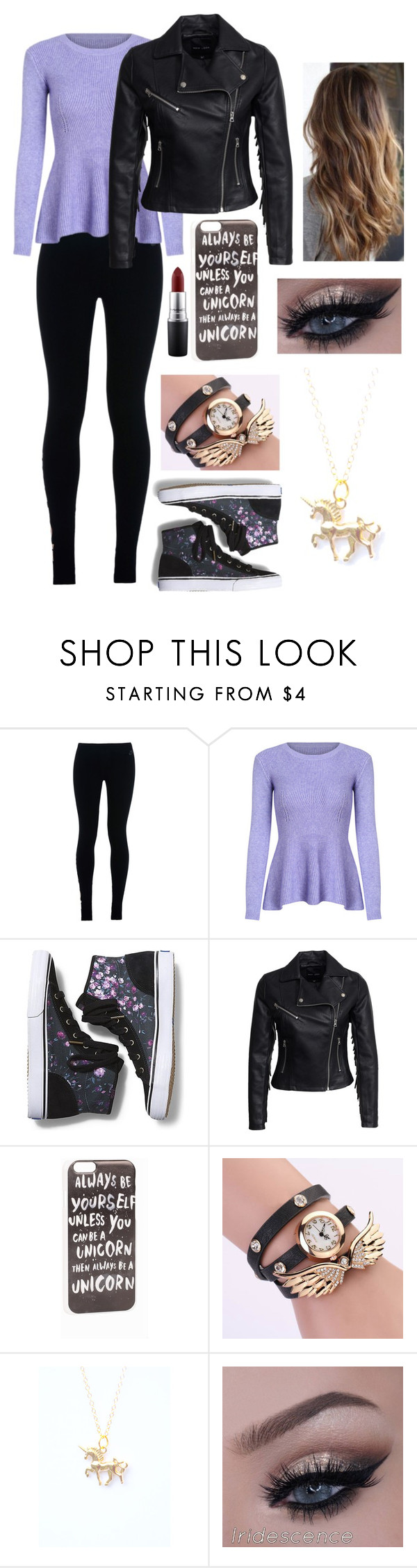 """""""Be yourself"""" by mustachesoccer ❤ liked on Polyvore featuring NIKE, Keds, New Look, JFR and MAC Cosmetics"""