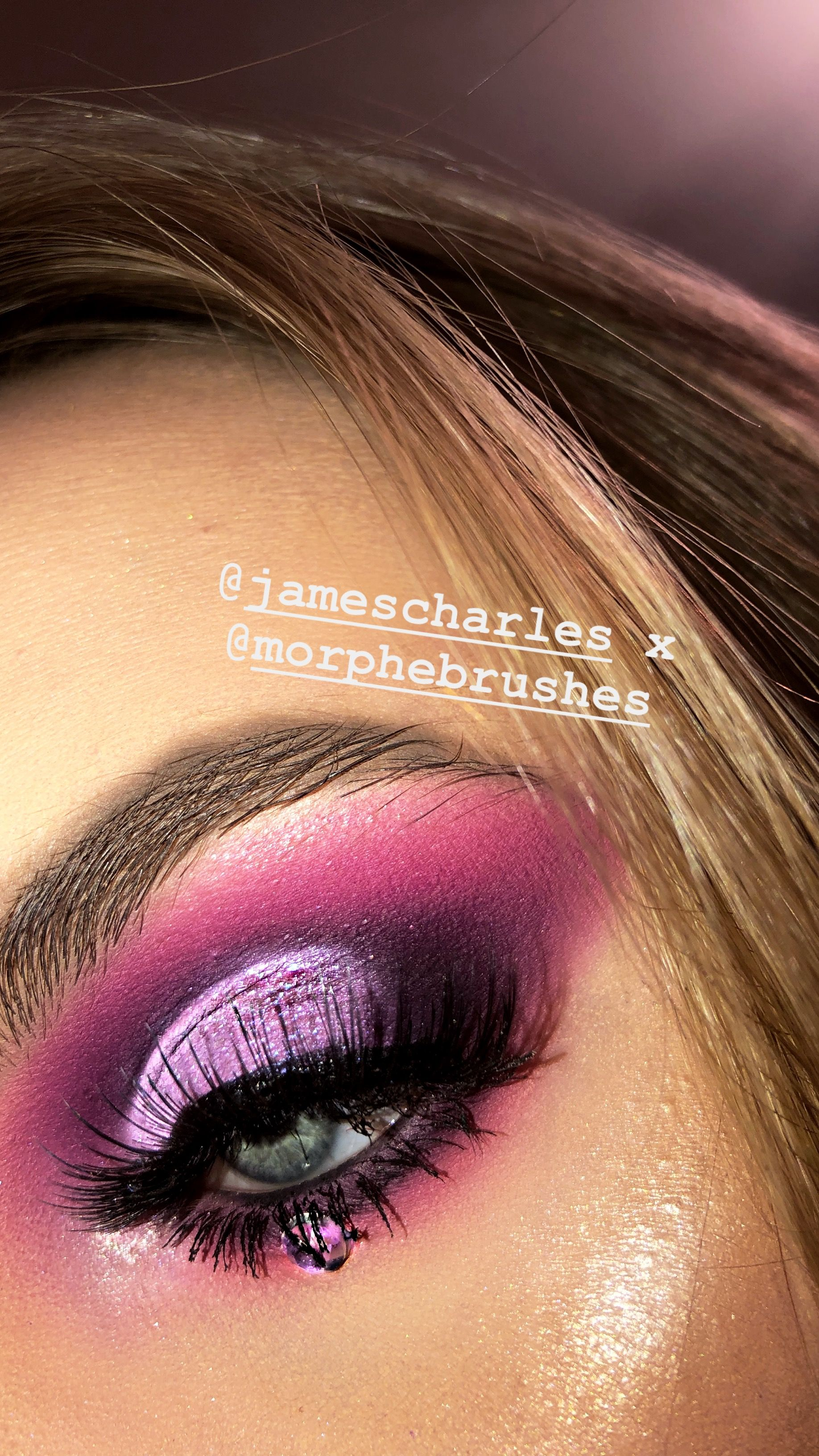 Purple Eyeshadow Using The James Charles X Morphe Palette