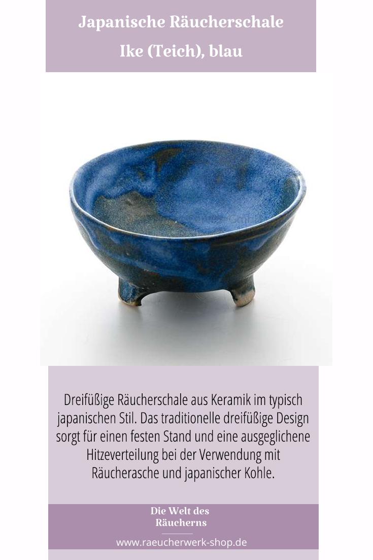 Japanische Raucherschale Ike Teich Blau In 2020 Raucherschale Raucherkegel Keramik