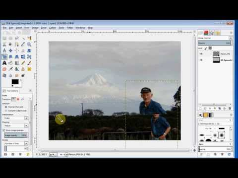 Gimp Beginner's Guide Combine Two Photos YouTube