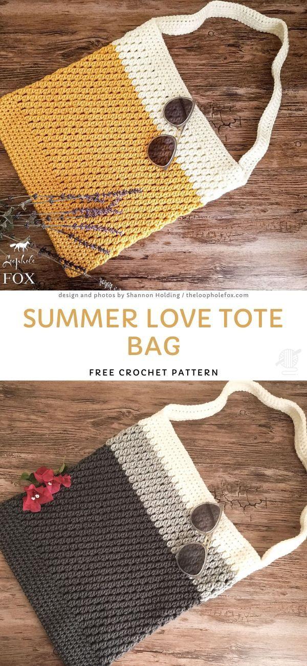 Summer Love Tote Bag Free Crochet Pattern