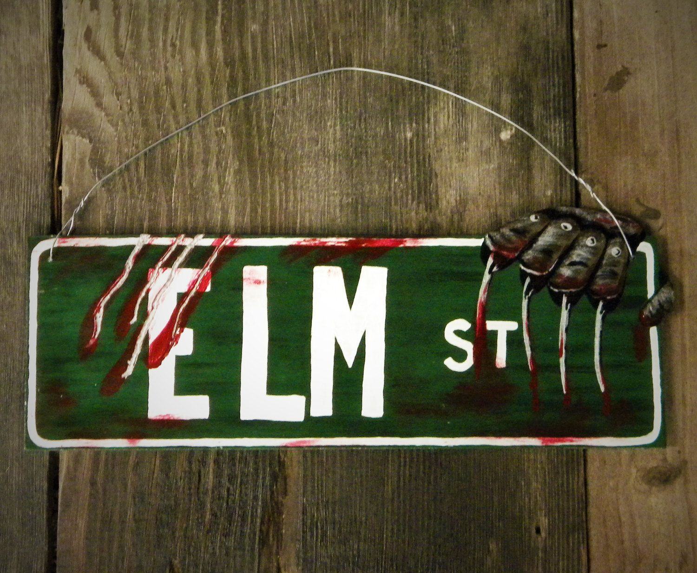 Elm Street Halloween Lawn Ornament Directional Sign Nightmare Freddy Krueger