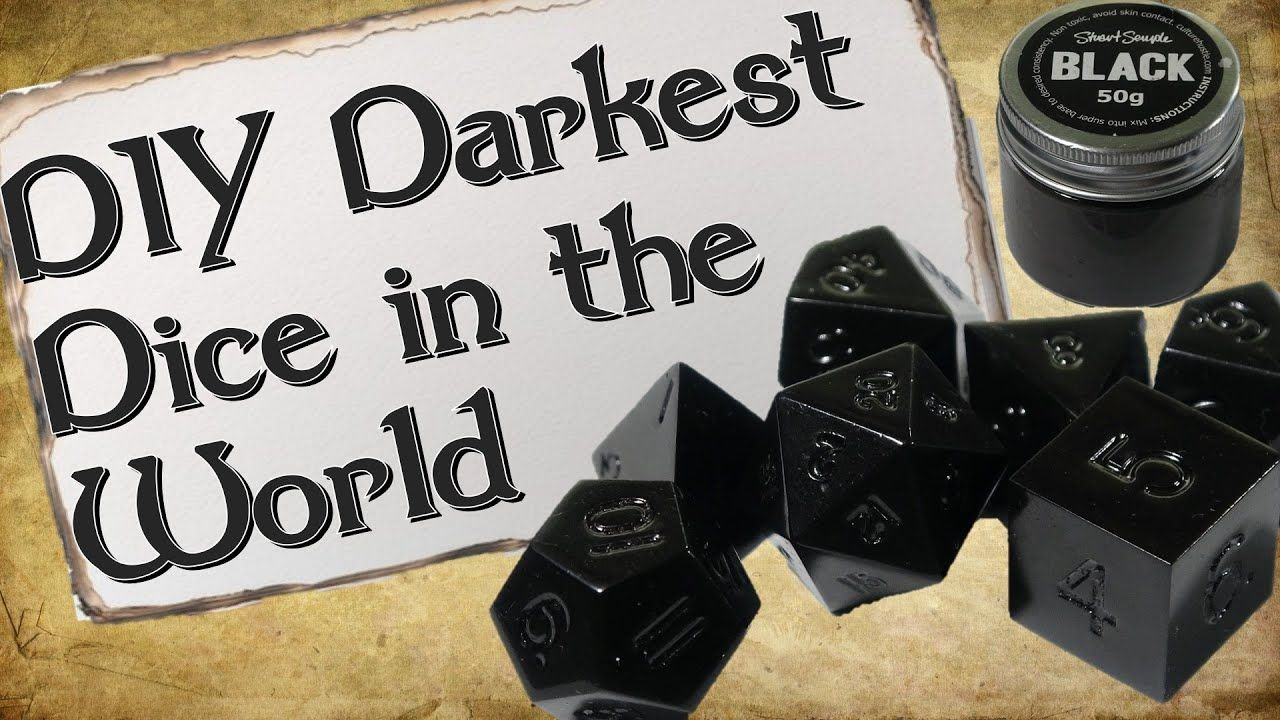How to Make Your Own Dice Set Pure Black Dice How to