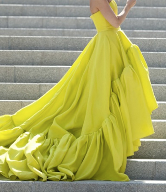 neon gown