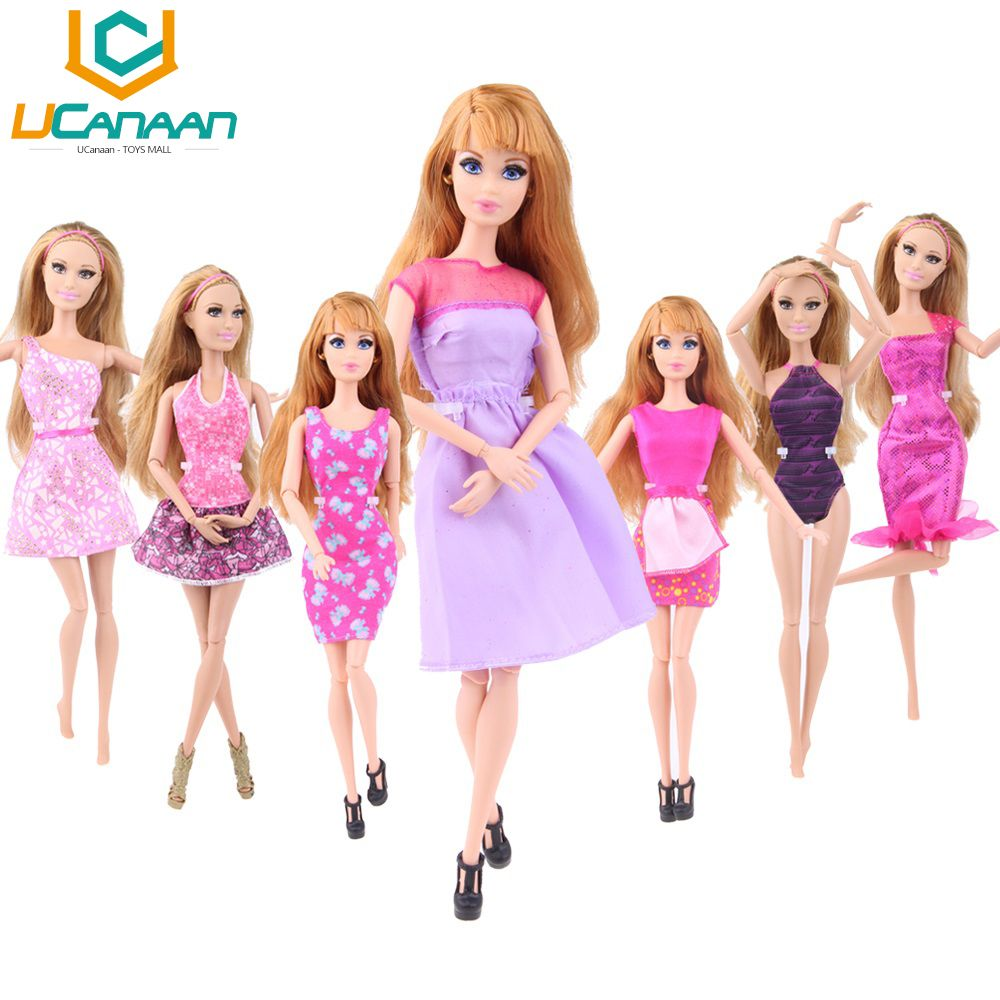 Barbie Dolls Clothes Fashion Outfit Dress X-mas Gift Girls Toy free shipping