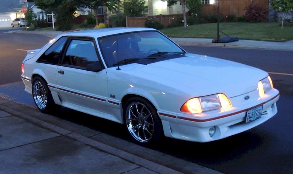 Oxford White 1987 Ford Mustang Gt Fastback Mustangattitude Com Mobile Ford Mustang Shelby Cobra Fox Body Mustang Mustang Convertible