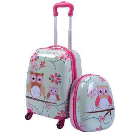 Costway – Costway Juego de equipaje de mano para niños de 12 '' y 16 '', 2 piezas Maleta Mochila Trolley de viaje escolar ABS – Walmart.com