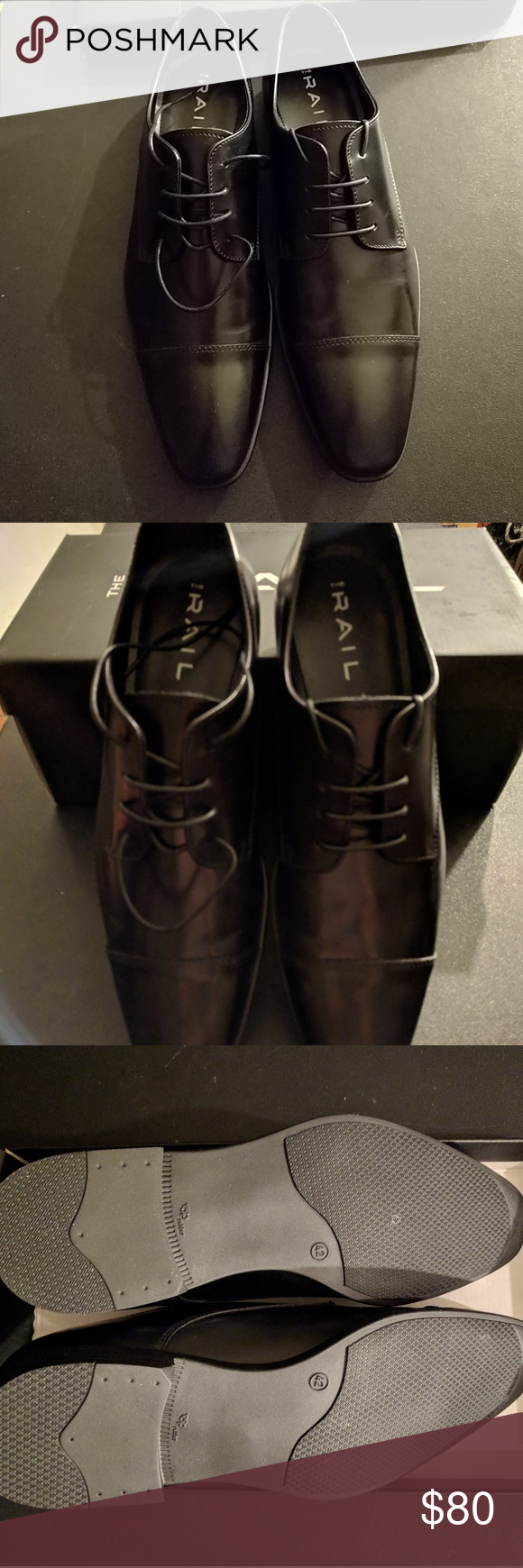 40c0c0525022 The Rail Stark Cap Toe Derby Mens dress shoes Open box never  used...practically brand new. Size chart shows 8-8.5 The Rail Shoes Oxfords  & Derbys
