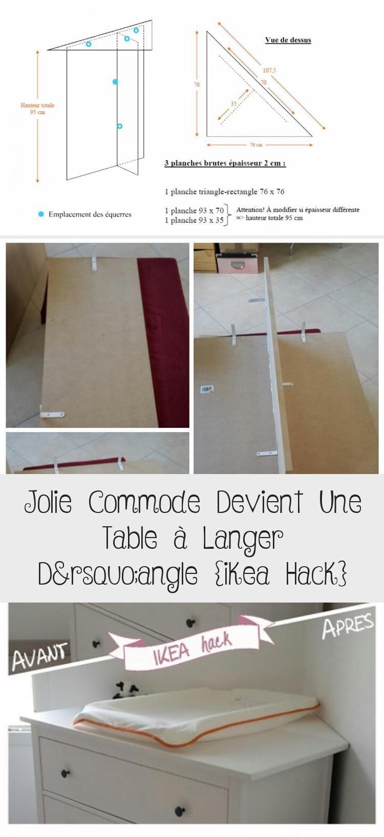 Table A Langer D Angle ikea hack: table à langer en coin #babyzimmerjungebett