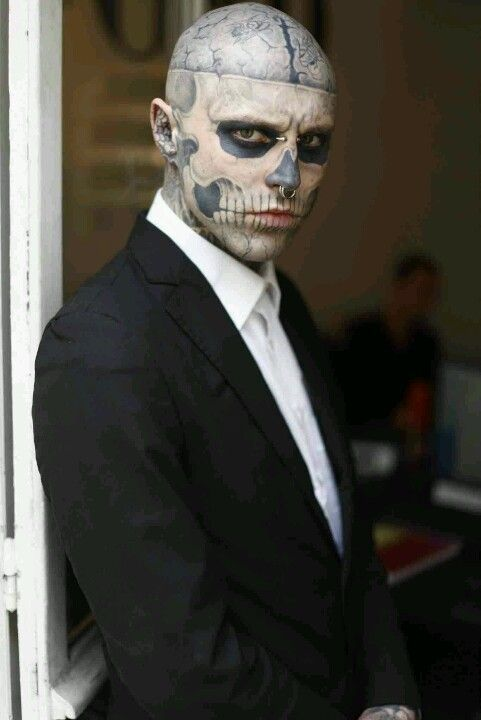 Rick Genest, zombie boy This guy is just intense I\u0027m so fascinated - maquillaje para halloween para hombre