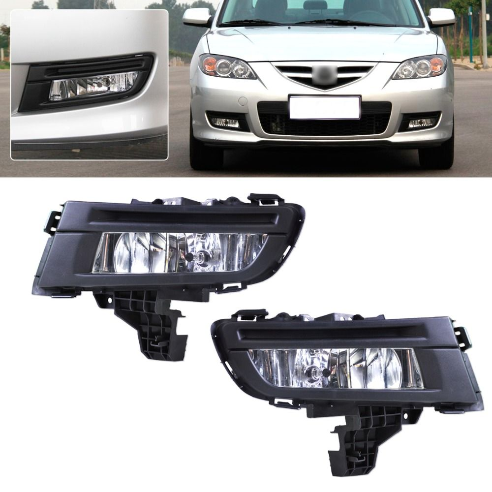 Beler Car Pair Front L R Fog Light Lamp 9006 12v 51w For Mazda 3 2007 2008 2009 Replacement Not For Sport Gt Hatchback Model Affili Mazda 3 2007 Mazda Mazda 3