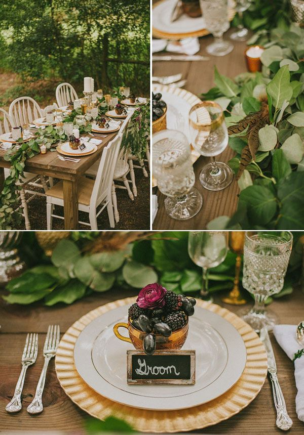 40 stunning woodland forest wedding reception ideas woodland fall woodland wedding inspiration with neutral colors earthy elements junglespirit Image collections