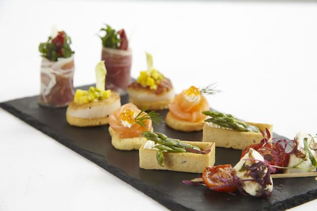 Quirky wedding canap ideas to serve to your guests for Canape garnishes