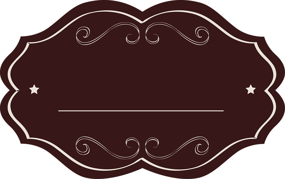 Free Image on Pixabay Label, Tag, Brown, Oval, Fancy