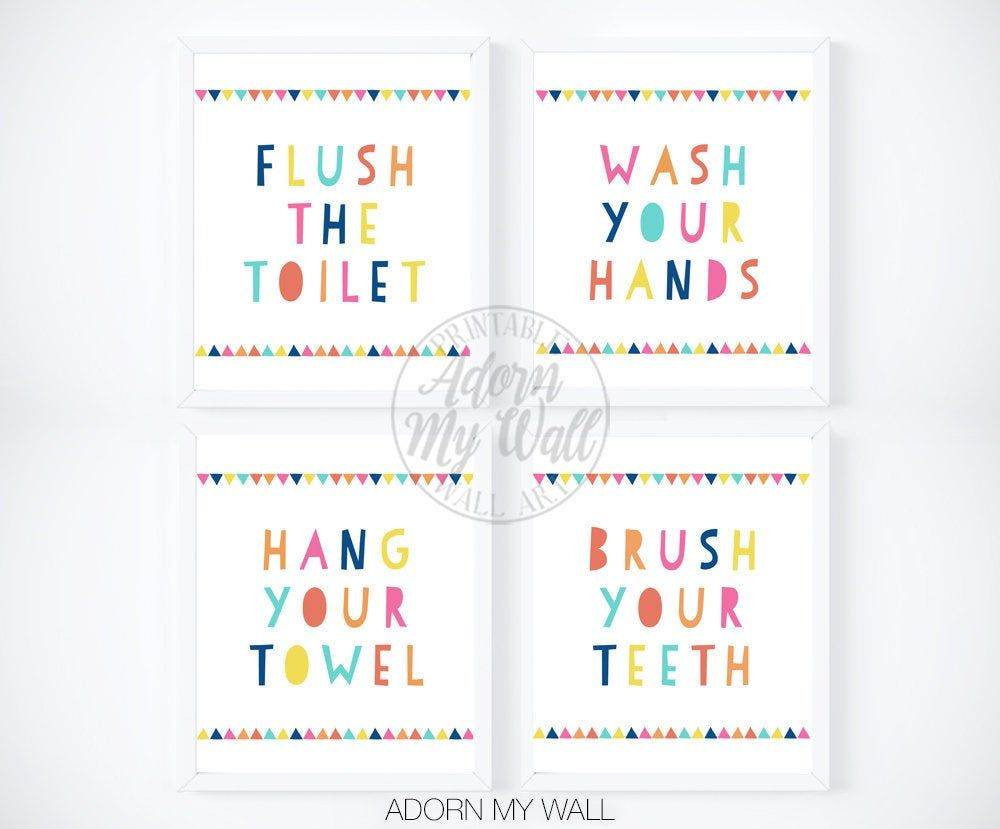 Kids Bathroom Prints Kids Bathroom Wall Art Kids Bathroom Etsy Kids Bathroom Print Kids Bathroom Wall Kids Bathroom Sign