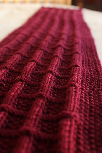Knitted Cashmere Scarf From A Free Pattern On Ravelry Knit Knit
