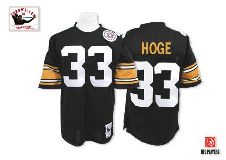 8cffb8deb31 Merril Hoge Men s Authentic Black Jersey  Mitchell and Ness NFL Pittsburgh  Steelers Home  33 Throwback