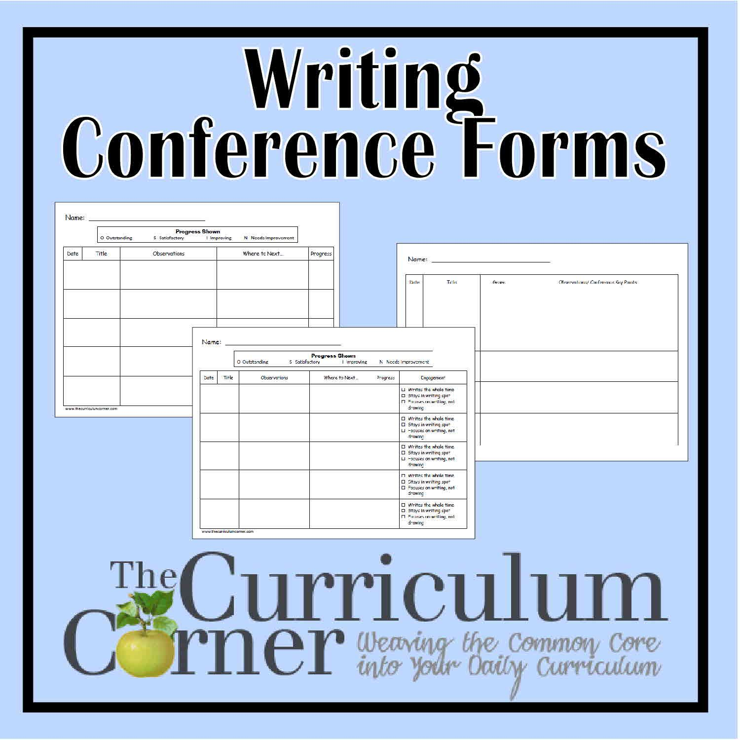 Writing Conference Forms | Pdf, Third and Curriculum