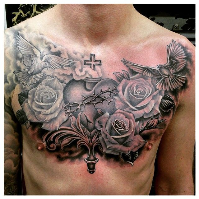 Badass Chest Tattoo Trendy Tattoos Tattoos For Guys Pieces Tattoo
