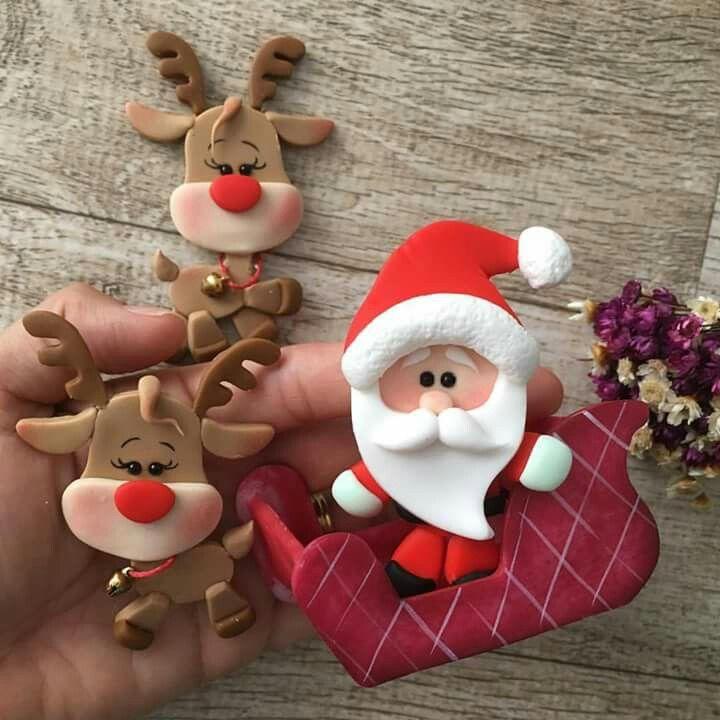 Pin de marimarlin delgado en mi estilo mi moda fimo for Adornos navidenos en porcelana fria utilisima