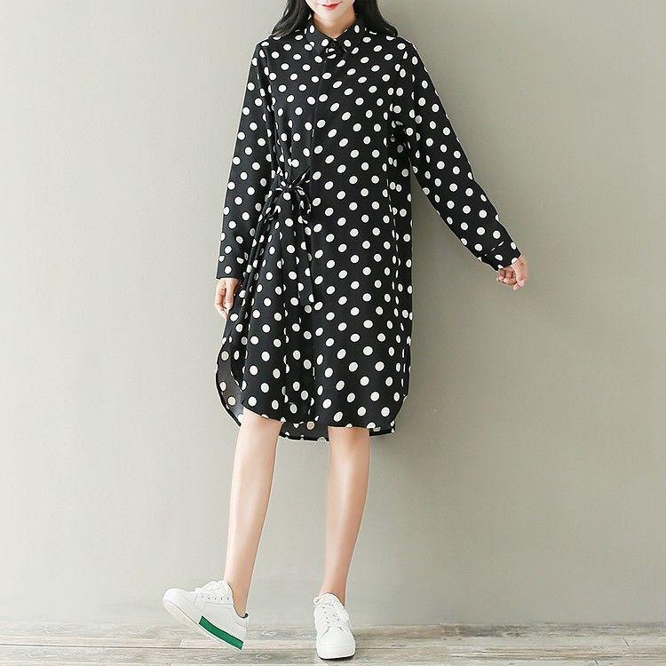 e6986d3f10e Long Sleeve Sweet Oversize Vintage Japanese Mori Girls Women s Loose Dress   13