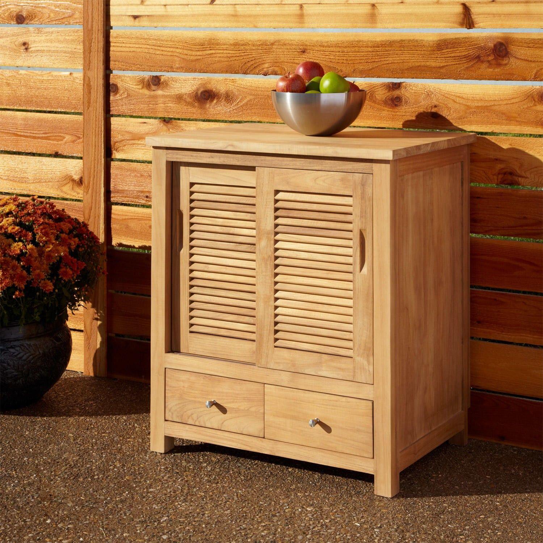 30 Touraine Teak Outdoor Kitchen Cabinet