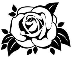 Szablon Malarski Do Wydrukowania Kwiat Rozy Rose Outline Flower Drawing Fish Illustration