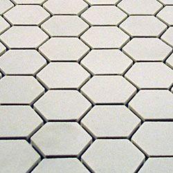 Somertile 11 75x12 In New York 1 Hex Antique White Unglazed Porcelain Mosaic