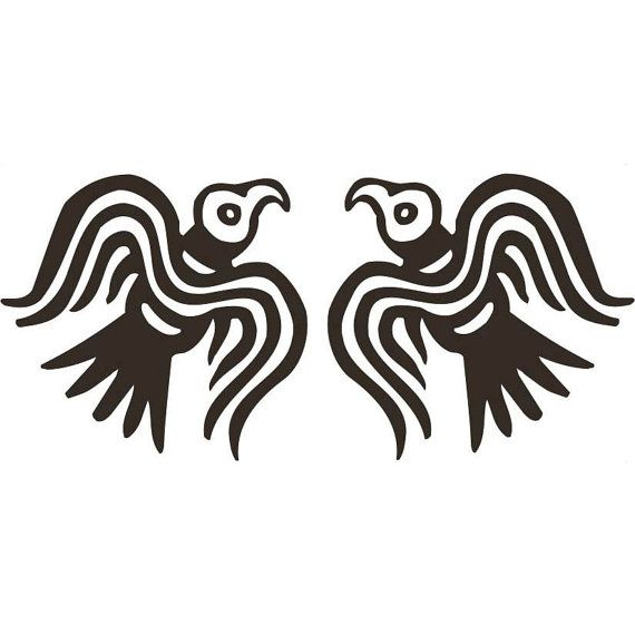 Viking Odin Ravens Black Vinyl Decal Tattoos Vikings
