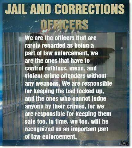 Corrections Officers Care Custody, Control Sayings Pinterest - probation officer job description
