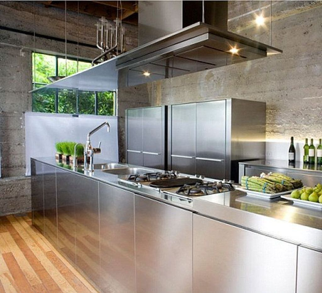 adding kitchen designs with stainless steel elements is