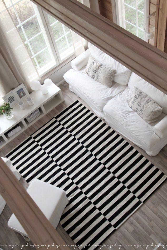 Tendance Deco Tapis A Ayures Noir Et Blanc Deco Pinterest